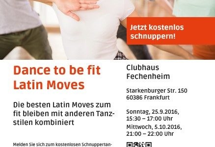 Schuppertanzen – Dance to be fit! – Latin Mooves in Fechenheim – Jetzt einsteigen
