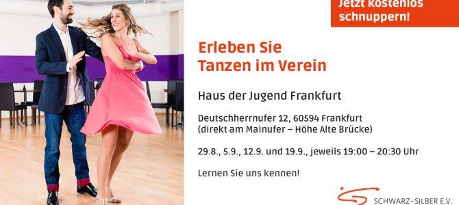 Start nächste Woche: Schnuppern Gesellschaftstanz in Bornheim und Sachsenhausen