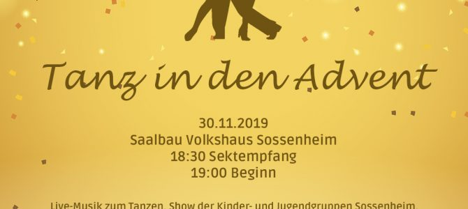 Tanz in den Advent am Samstag, den 30. November im Volkshaus Sossenheim /Nachtrag/