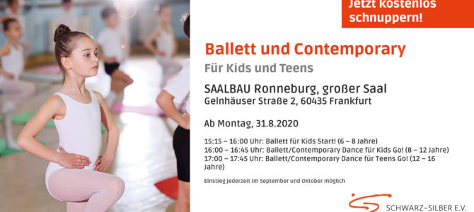 Ab 31.08. Ballett & Contemporary Dance in FFM-Preungesheim