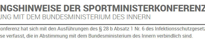 Landessportbund veröffentlicht neue Auslegungshinweise zum Sport in Zeiten der Bundesnotbremse