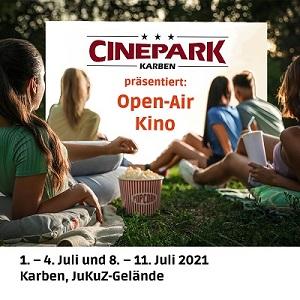 Schwarz-Silber grillt beim Open Air Kino Karben