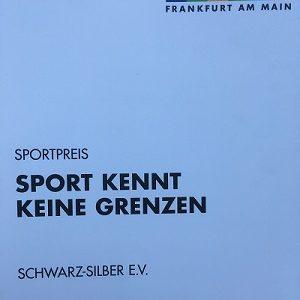 """Schwarz-Silber mit dem Frankfurt Sportpreis 2020 """"Sport kennt keine Grenzen"""" ausgezeichnet"""